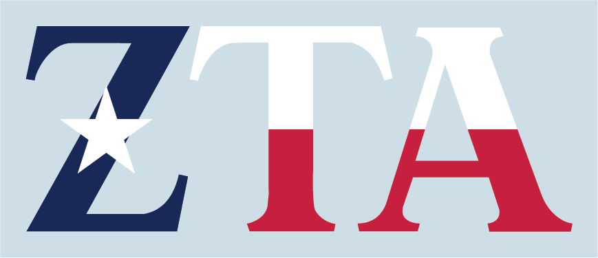 Sorority Texas Flag Greek Letter Decals