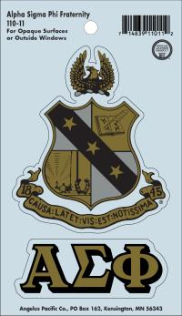 Fraternity Crest Decals