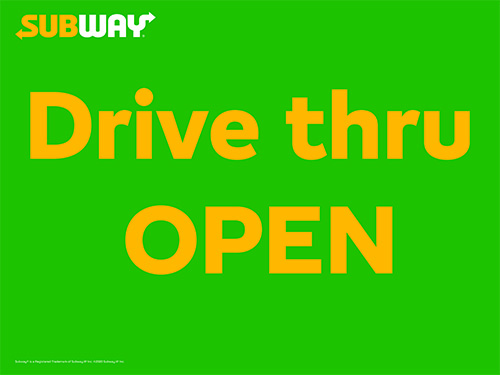 Drive Thru Open Picket Sign